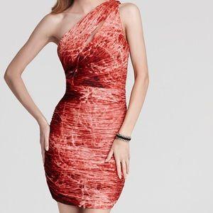 Halston heritage one shoulder dress  worn once